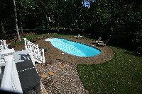 Oasis Fiberglass Pool in Huntington, WV